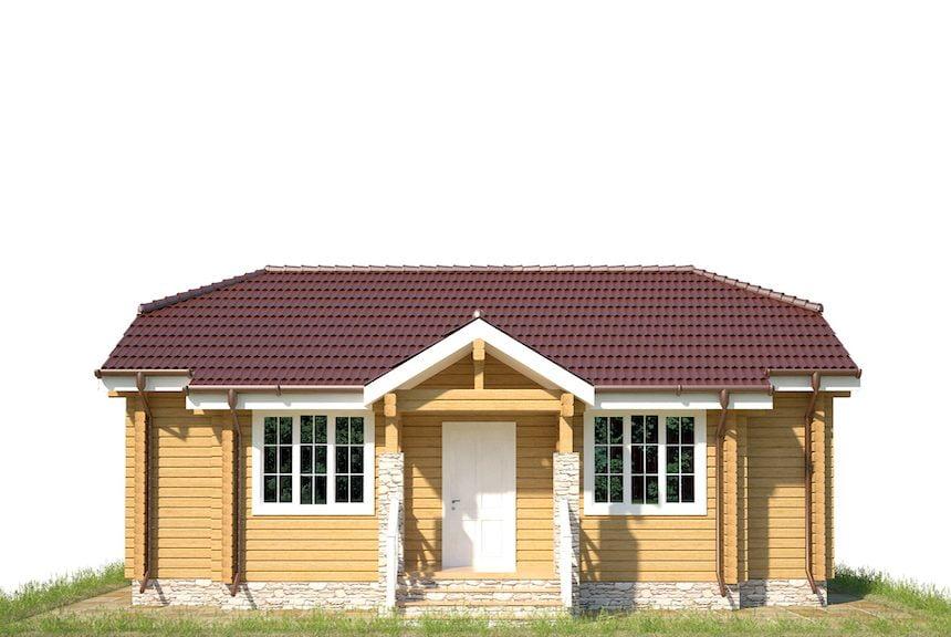 Недорогие дачные дома клееного бруса
