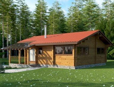 частный деревянный дом