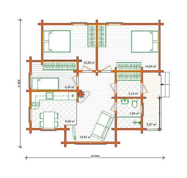 деревянные дома ключ цены
