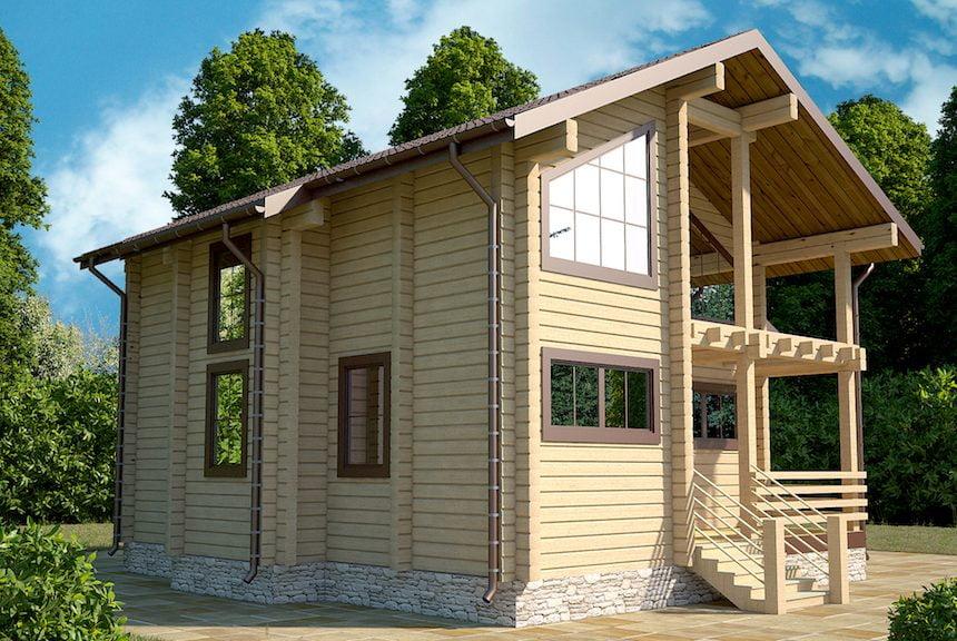 дом из профилированного бруса проекты и цены