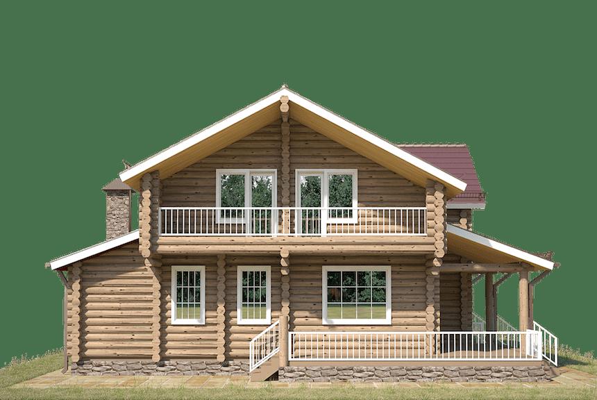 деревянные дома из бревна фото
