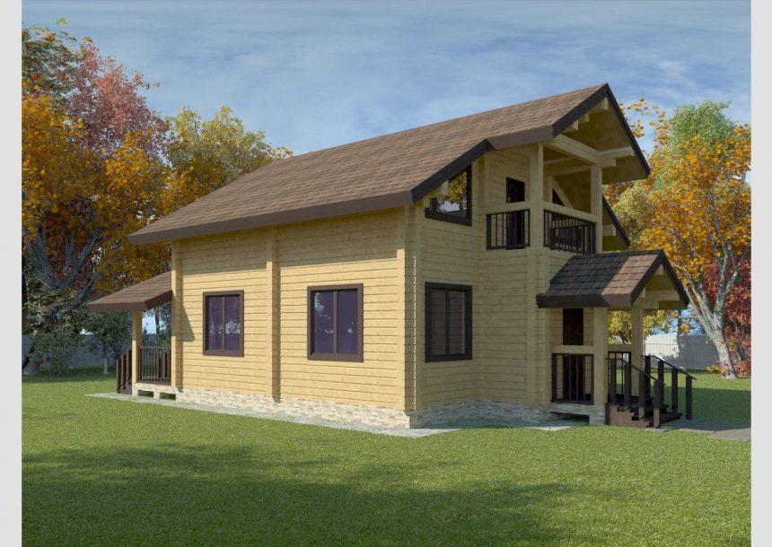 деревянный дом из дерева
