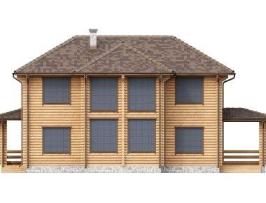 дом из бревна от производителя недорого