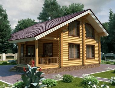 дом из бревна под ключ фото