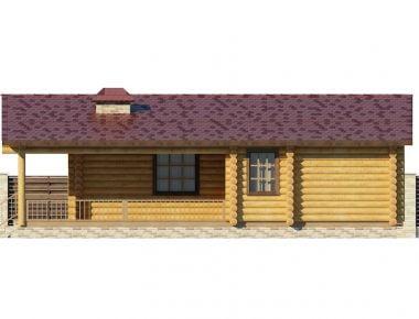 дом из цилиндрического бревна под ключ