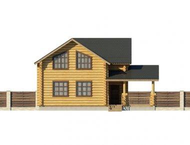 дома из оцилиндрованного бревна недорого
