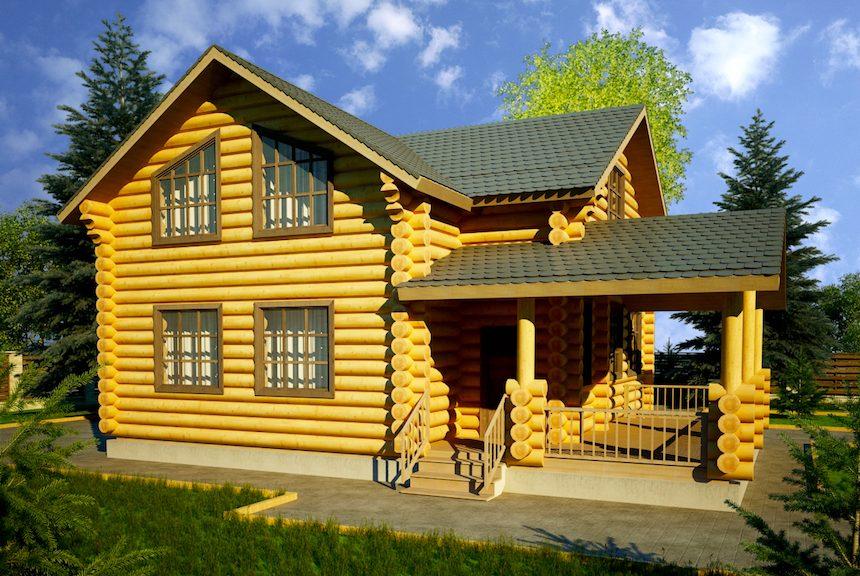 фото срубов домов из бревна