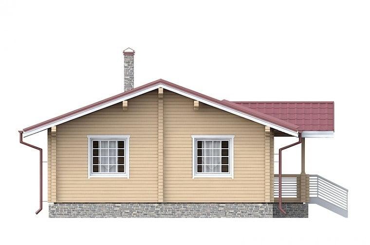 одноэтажные дома из бруса цена