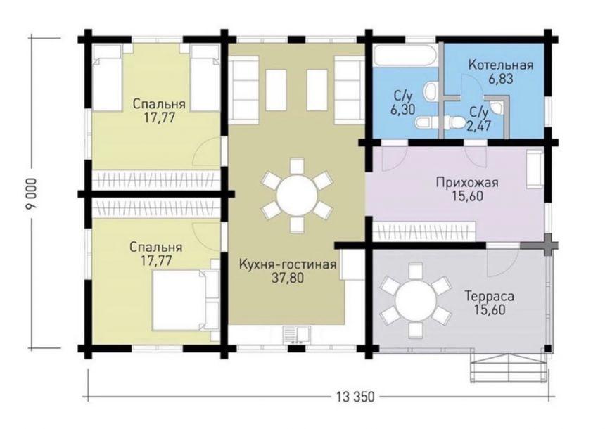 план дома из проф бруса