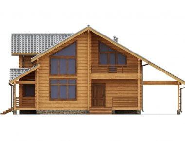 простой деревянный дом